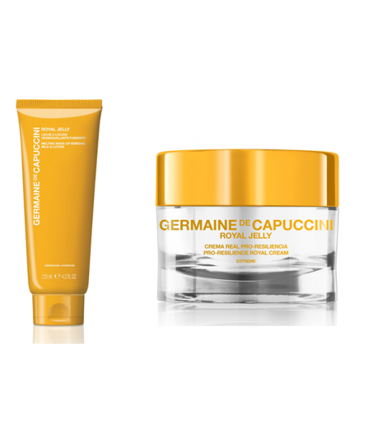 ROYAL JELLY PRO-RESILIENCE ROYAL CREAM EXTREME 50ml - dry skin + ROYAL JELLY MELTING MAKE-UP REMOVAL MILK & LOTION 125ml