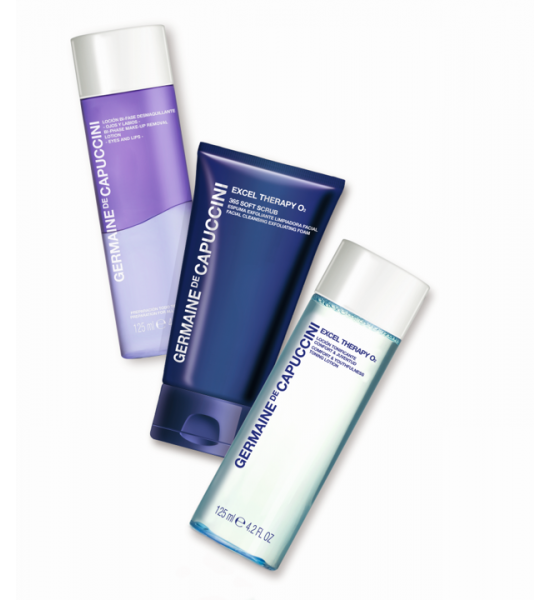 Excel Therapy 365 Soft Scrub +  Excel Therapy Toner  + Bi-Phase Make-up Remover